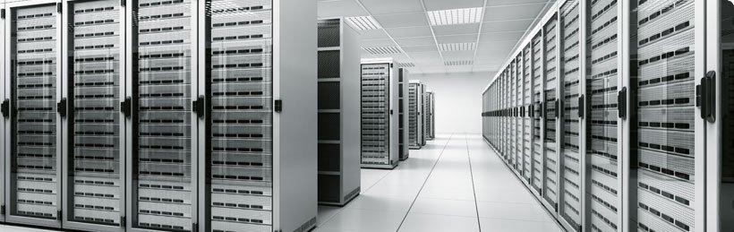 Rechenzentrum - einzelne Anwendungen bis hin zu vollständigen Serverstrukturen