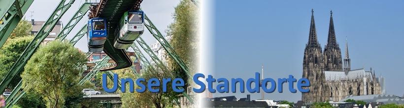 Unsere Standorte - Wuppertal und Köln