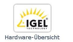 IGEL Technology Hardware Übersicht